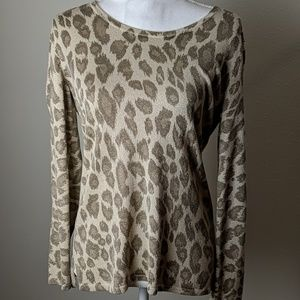Chico's Animal Print Knit Top